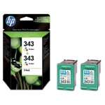 HP 343 tri-colour 2pack Vivera tusz